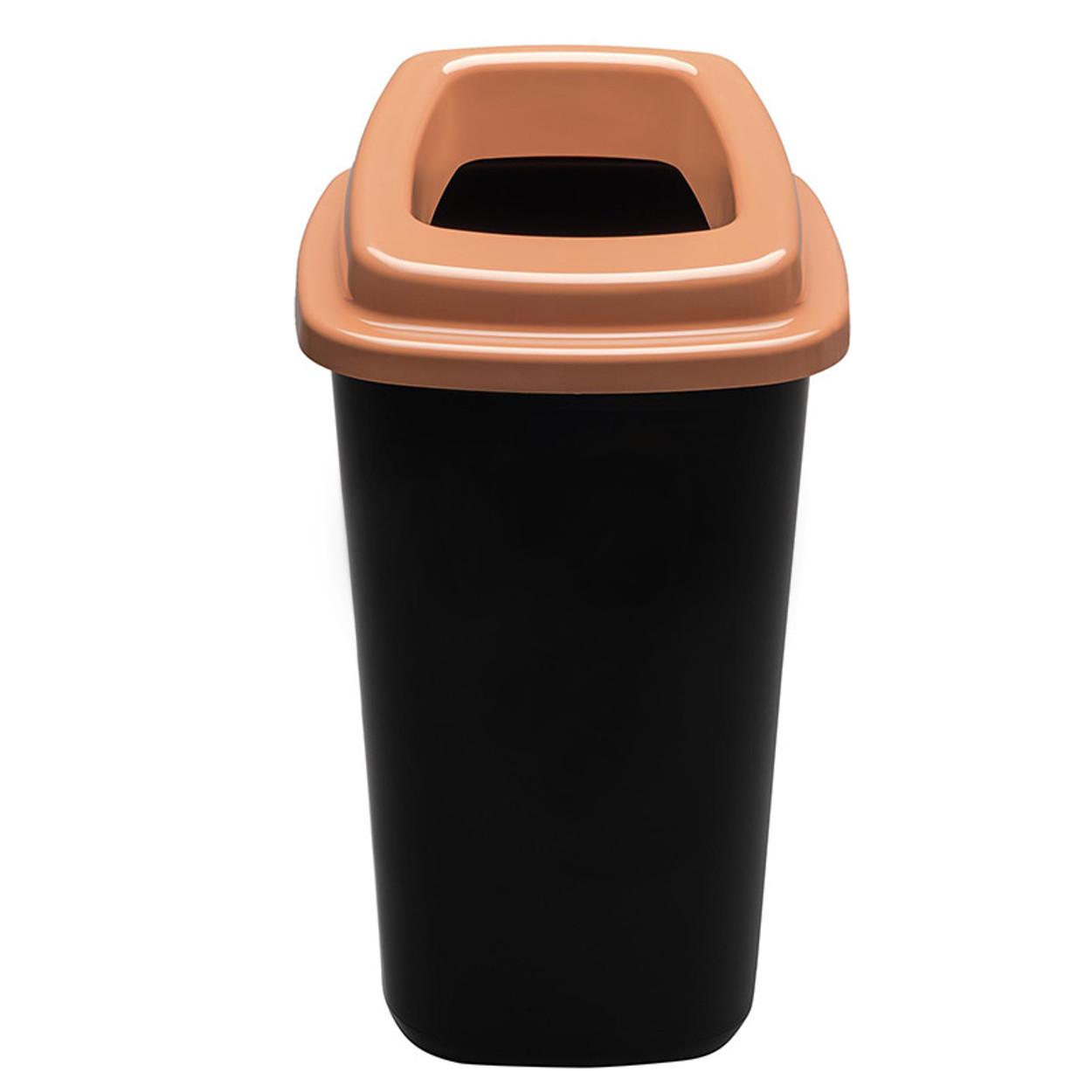 Plastikowy kosz do segregacji śmieci, 45 l, brązowy