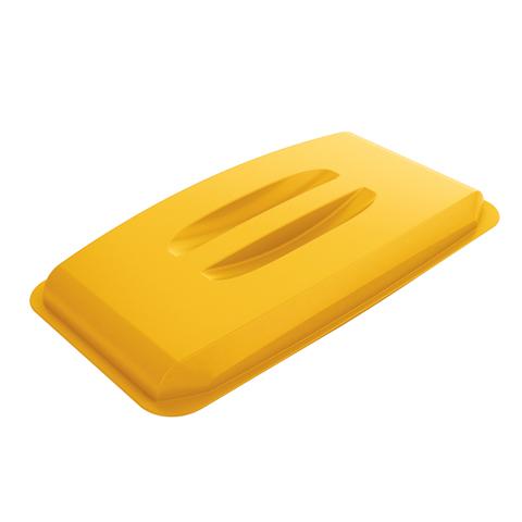 Pokrywa pojemnika na odpady, żółta