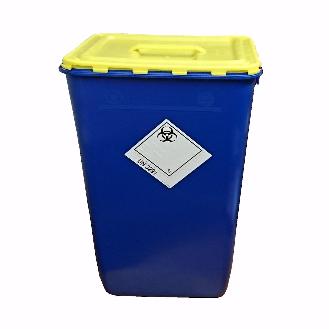 Pojemnik z klapą i uchwytem na zbiórkę bioodpadów - 60L