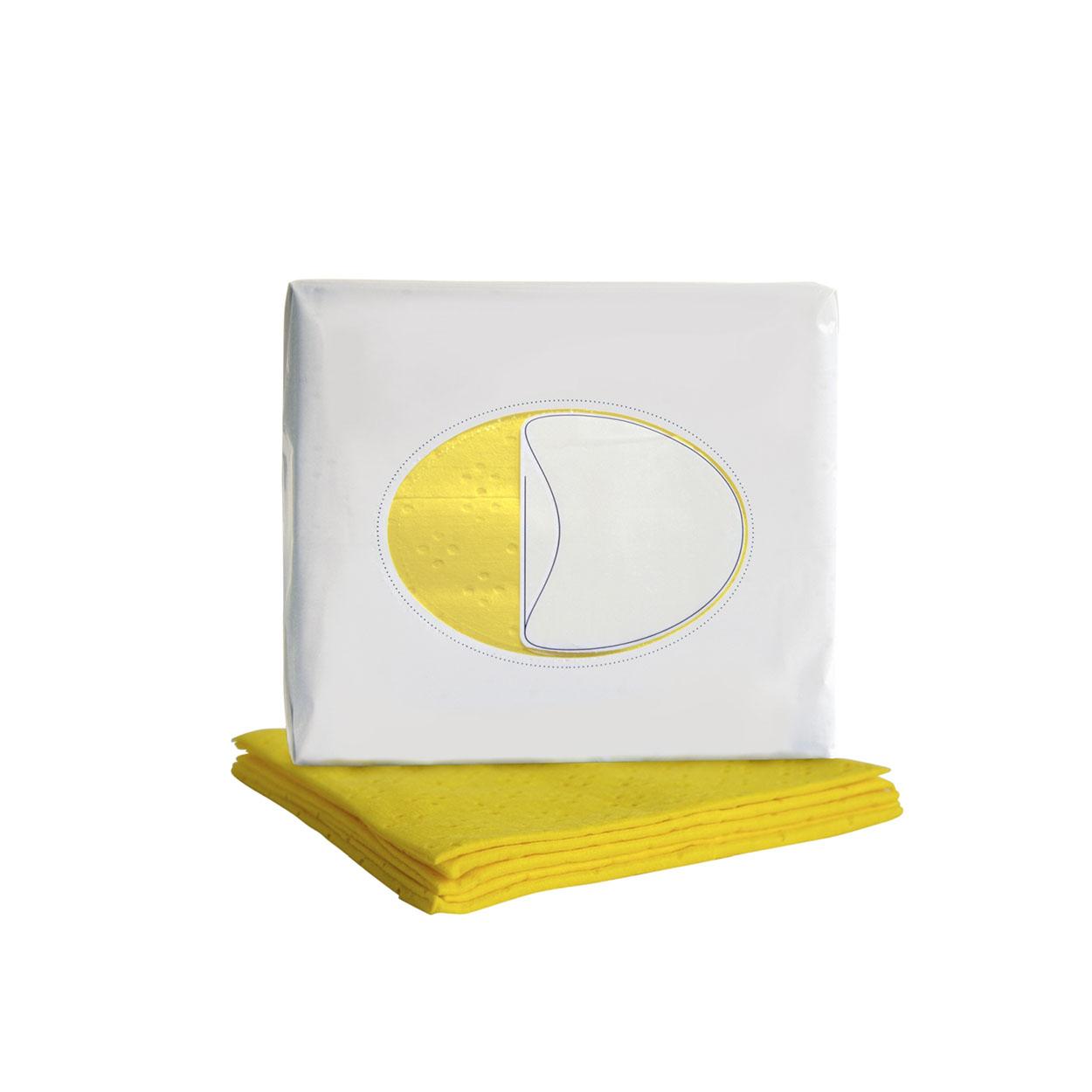 Kolorowa ściereczka czyszcząca na lżejsze zabrudzenia - żółt