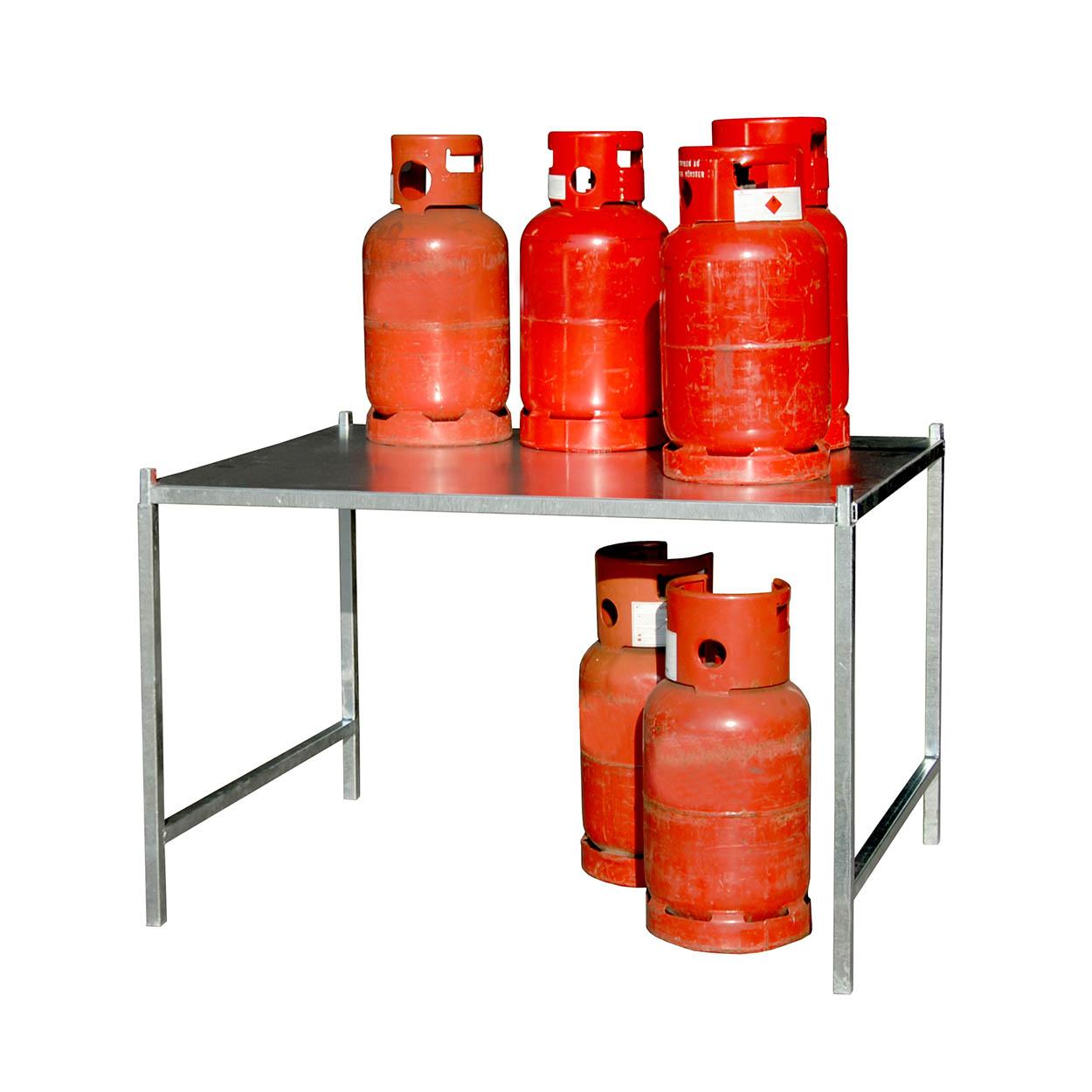 Regał do klatki do przechowywania butli gazowych