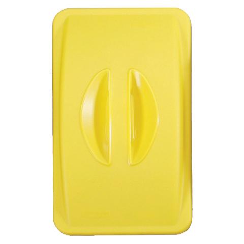 Pokrywa bez otworu żółty