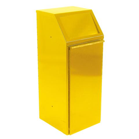 Metalowy kosz 70L żółty