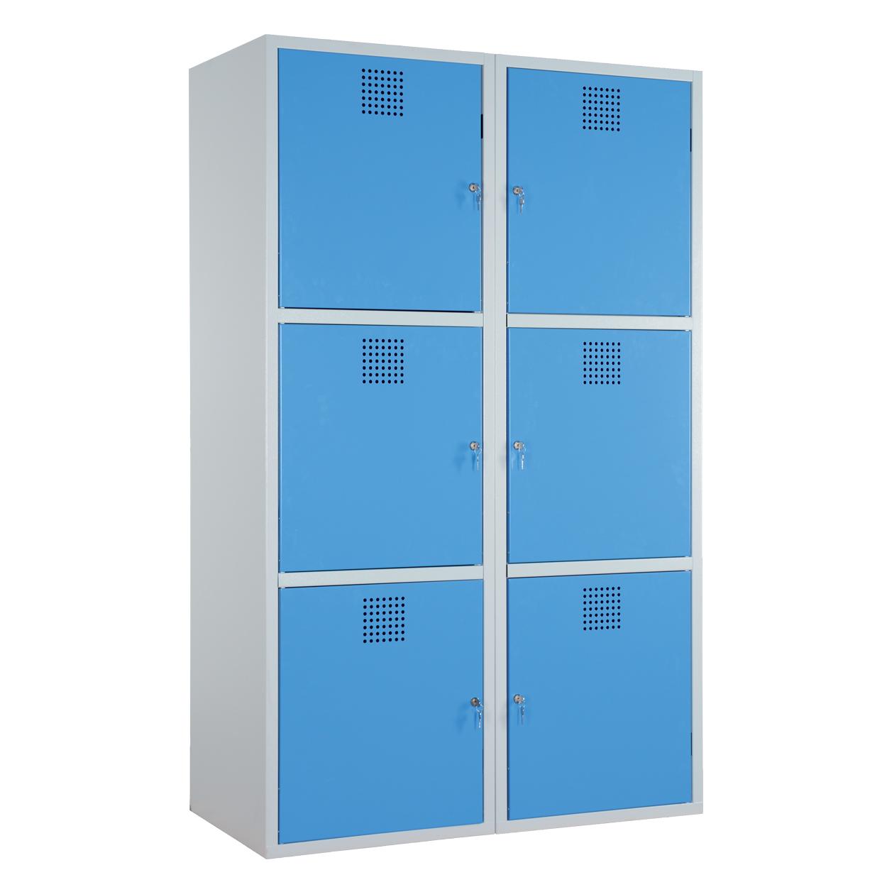 Dzielona szafka na chemikalia - certyfikowana -niebieska