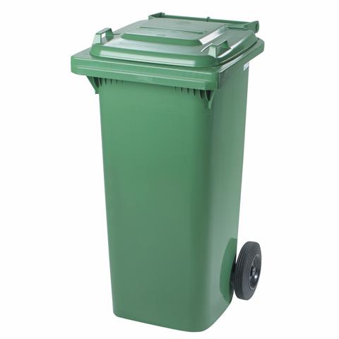 Pojemnik z tworzywa na kółkach zielony
