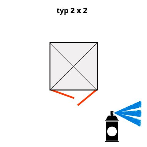 Dodatkowa warstwa lakieru na kontener 2x2 - niebieski  (RAL 5015)