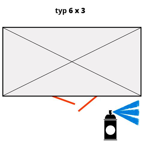 Dodatkowa warstwa lakieru na kontener 6x3 - niebieski  (RAL 5015)