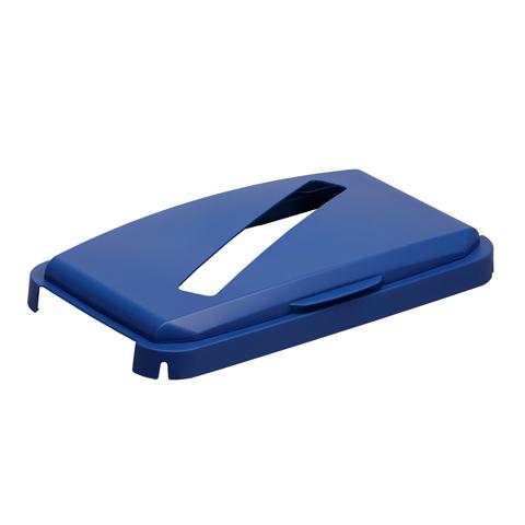 Pokrywa z podłużnym otworem, niebieska
