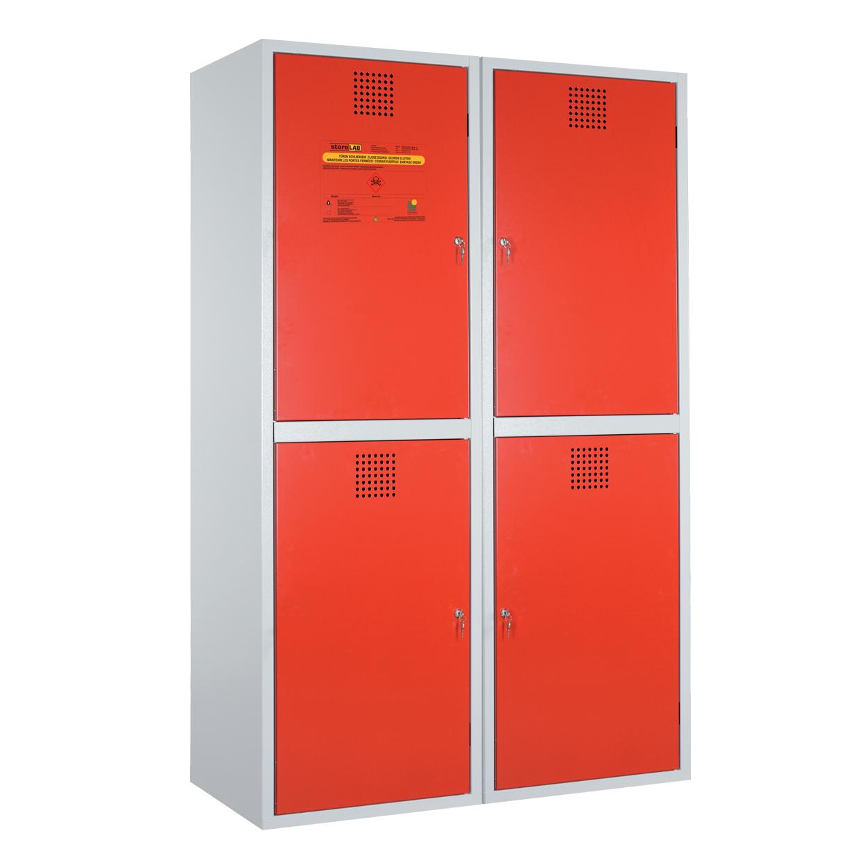 Dzielona szafka na chemikalia - certyfikowana -czerwona