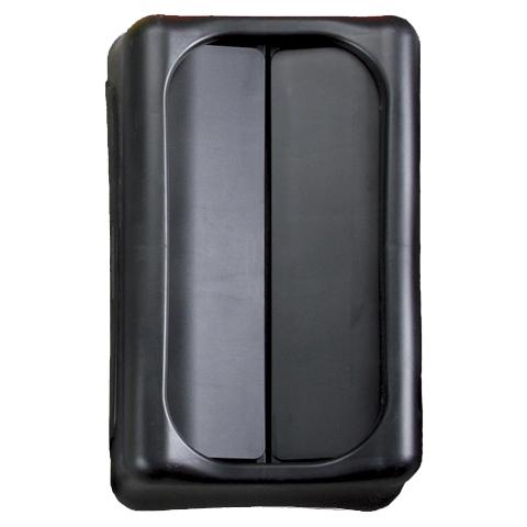 Pokrywa z otwieraną klapą czarny