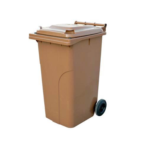 Pojemnik z tworzywa na kółkach brązowy