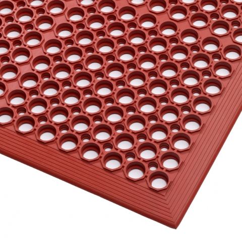 Mata gastronomiczna czerwona (91x152cm)