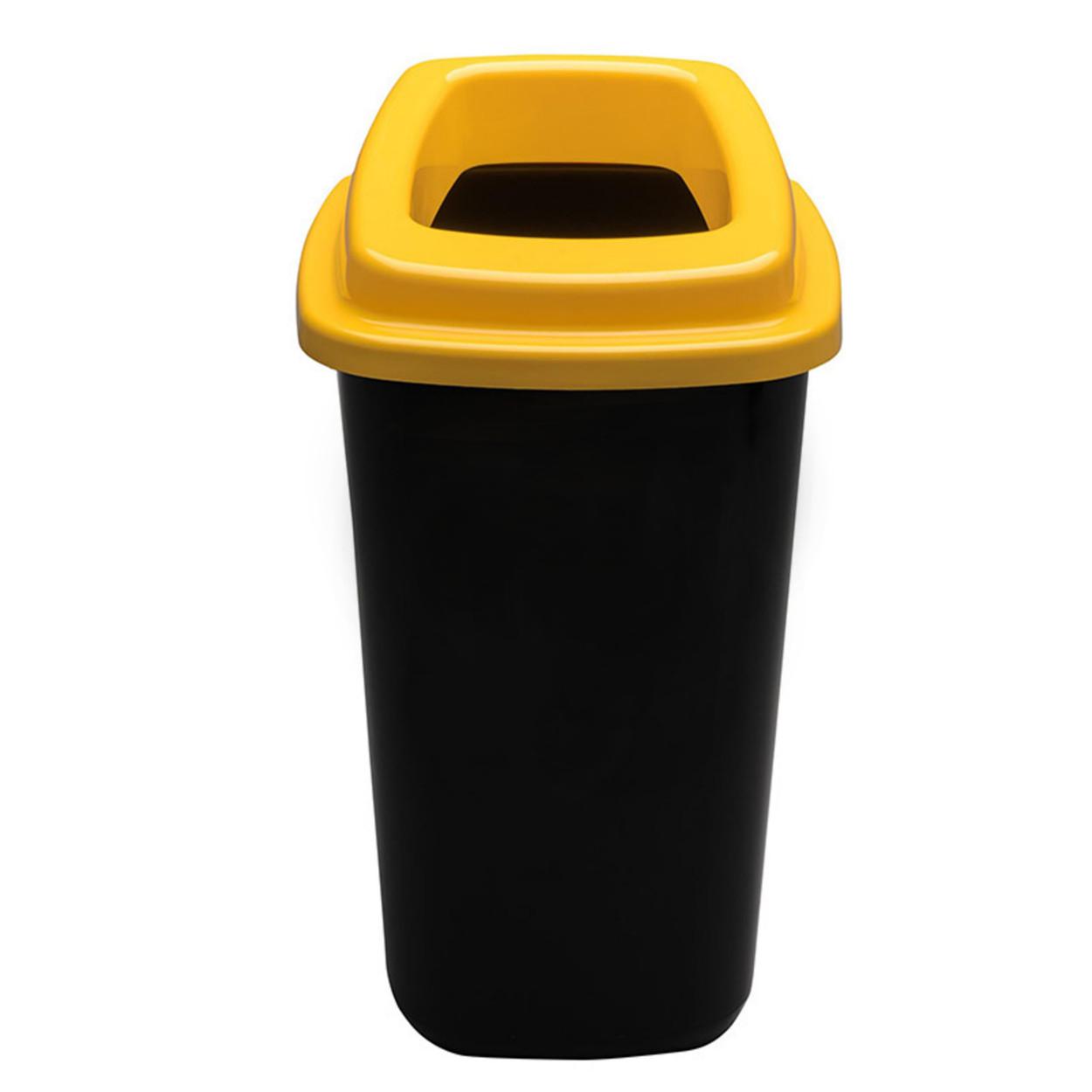 Plastikowy kosz do segregacji śmieci, 90 l, żółty