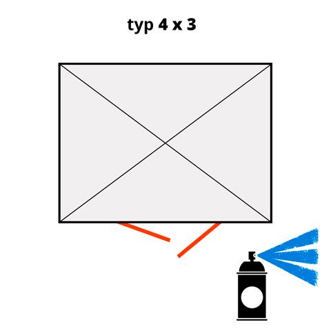 Dodatkowa warstwa lakieru na kontener 4x3- niebieski  (RAL 5015)