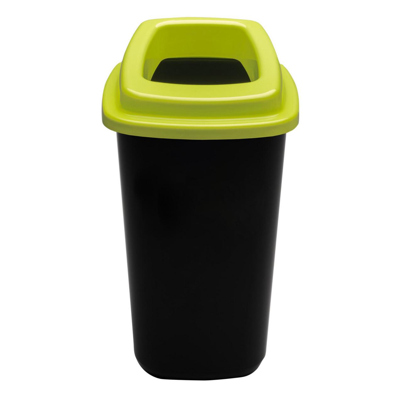 Plastikowy kosz do segregacji śmieci, 90 l, zielony