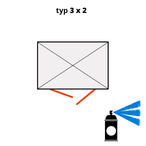 Dodatkowa warstwa lakieru na kontener  3x2- niebieski  (RAL 5015)