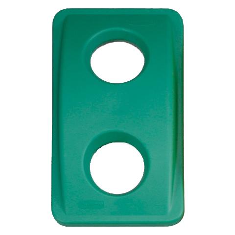 Pokrywa z okrągłym otworem zielony