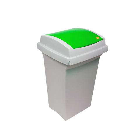 Kosz plastikowy do segregacji odpadów (zielony)