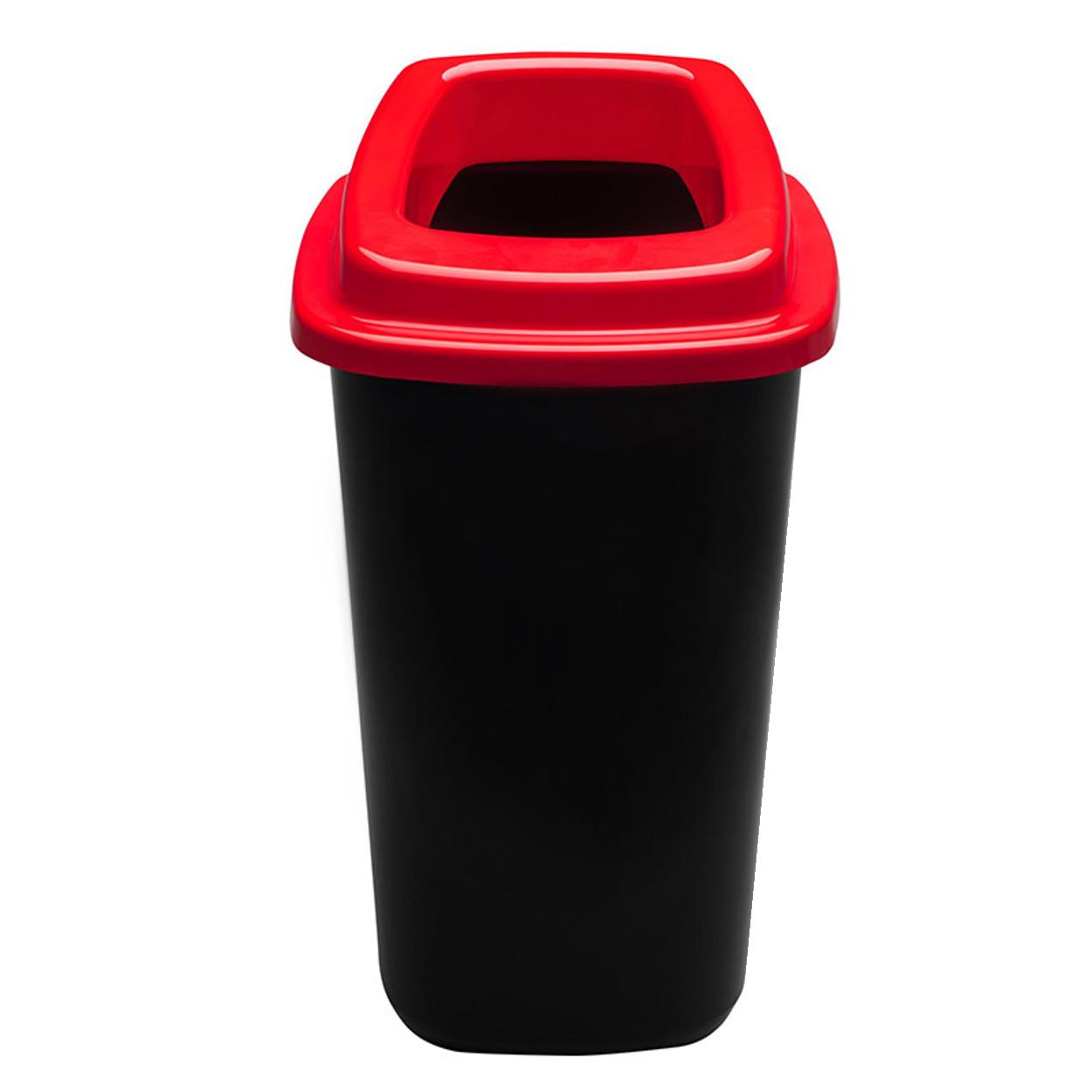 Plastikowy kosz do segregacji śmieci, 90 l, czerwony