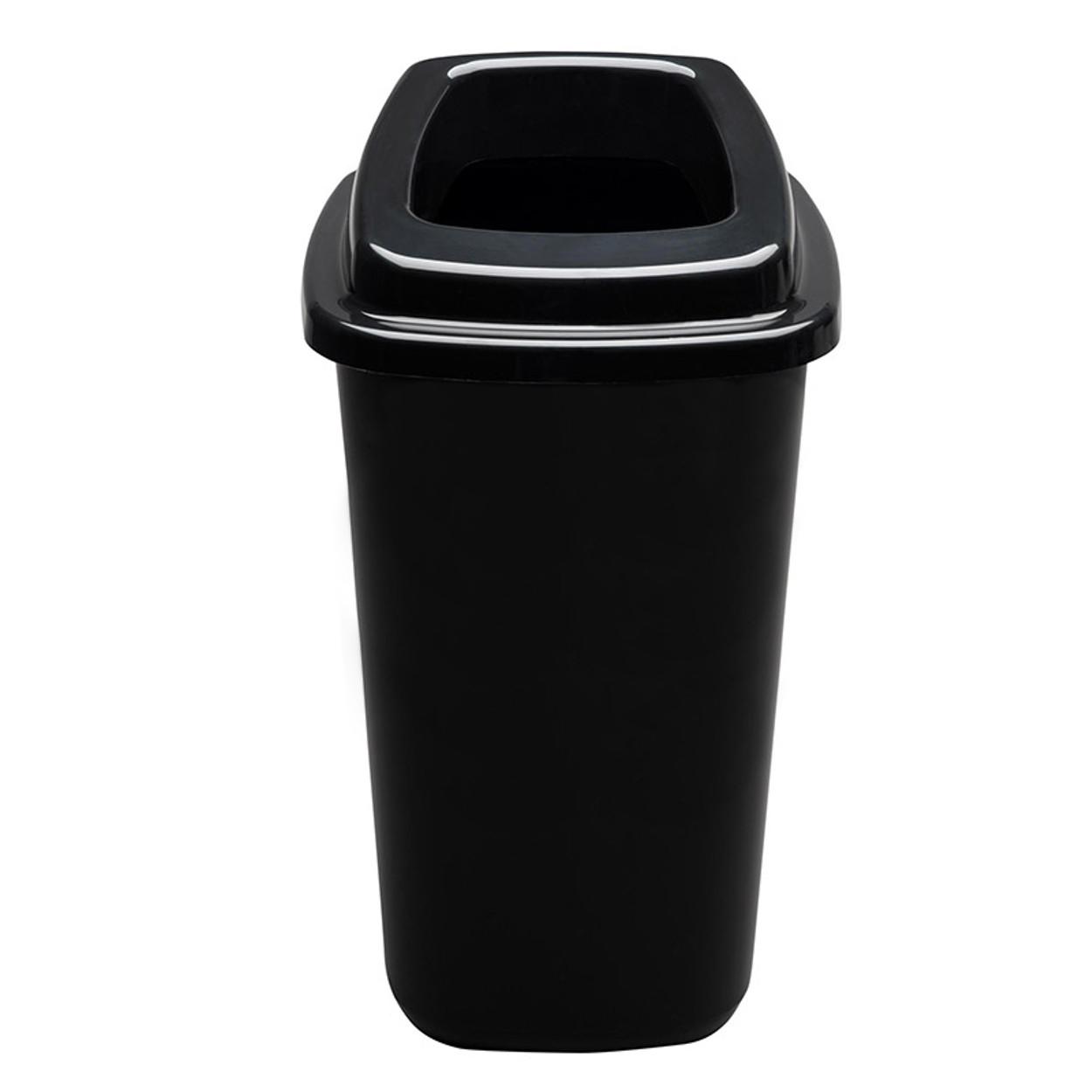 Plastikowy kosz do segregacji śmieci, 90 l, czarny