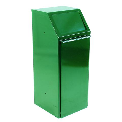 Metalowy kosz 70L zielony