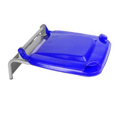 Uchwyt na worek z plastikowym wiekiem niebieski