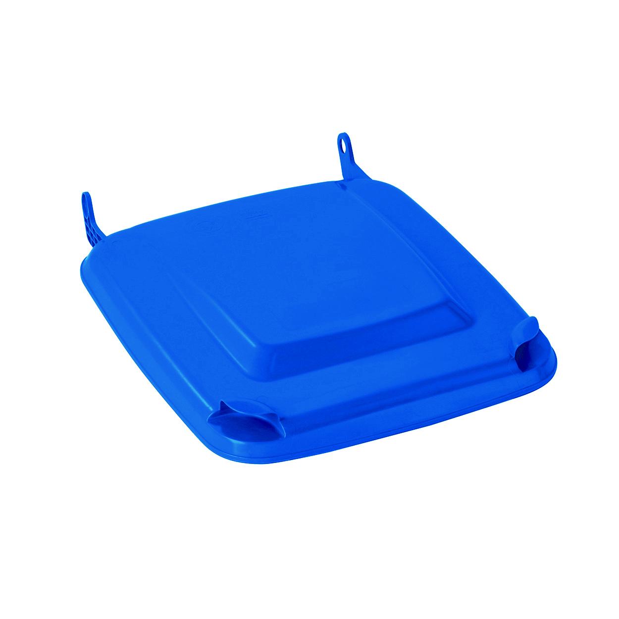 Klapa do plastikowego pojemnika 120 L, niebieska