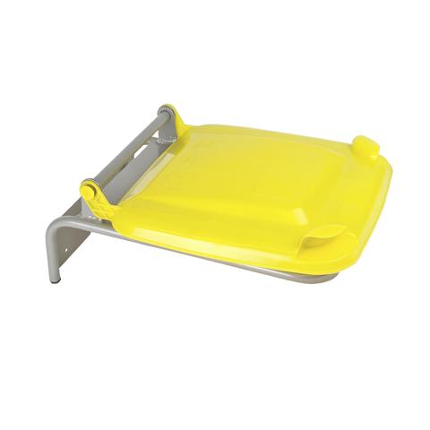Uchwyt na worek z plastikowym wiekiem żółty