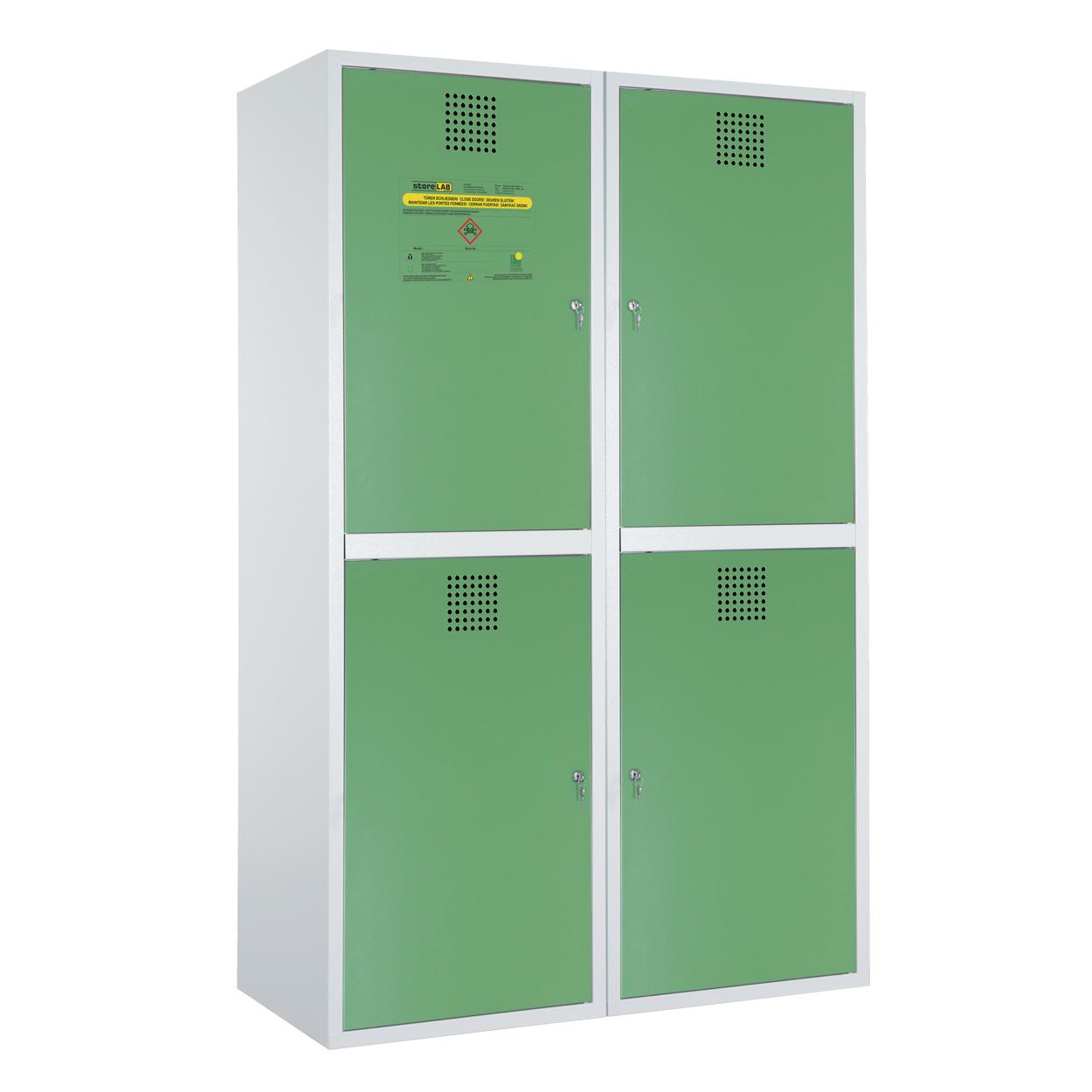 Dzielona szafka na chemikalia - certyfikowana -zielona