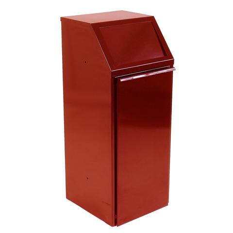 Metalowy kosz 70L czerwony