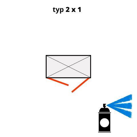Dodatkowa warstwa lakieru na kontener 2x1 - niebieski  (RAL 5015)