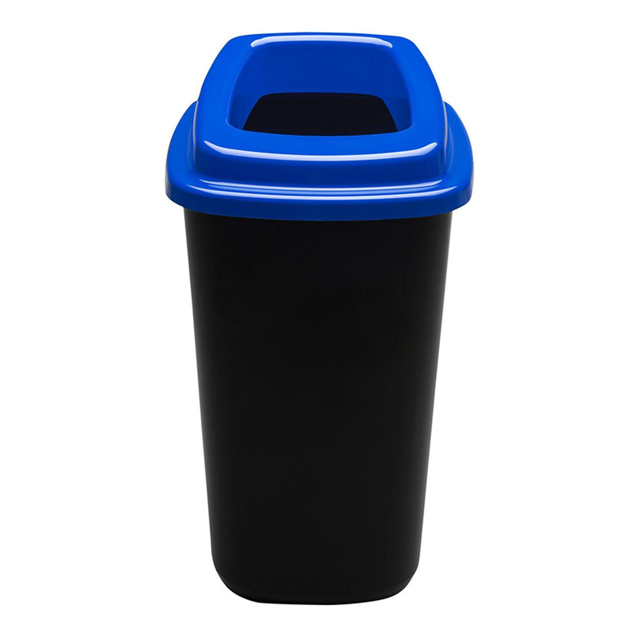 Plastikowy kosz do segregacji śmieci, 45 l, niebieski