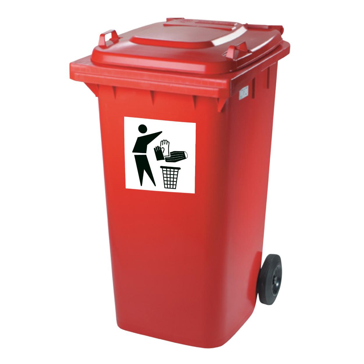 Pojemnik plastikowy na zużyte środki ochrony osobistej, 240 L