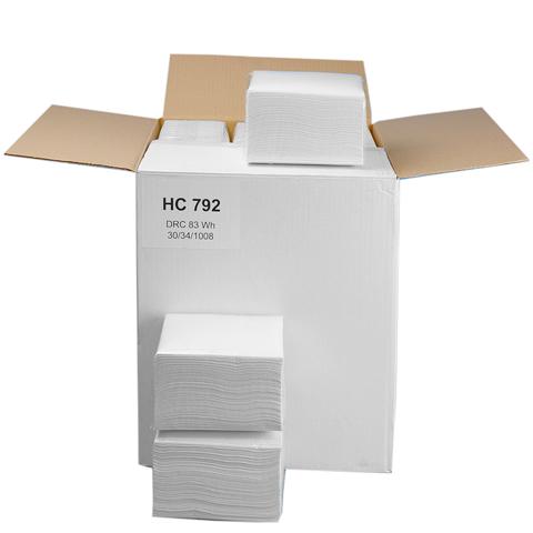 Czyściwo celulozowe z dodatkiem lateksu 30x34cm (białe)