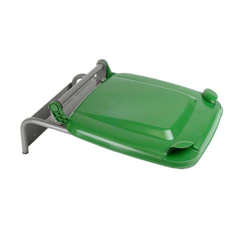 Uchwyt na worek z plastikowym wiekiem zielony