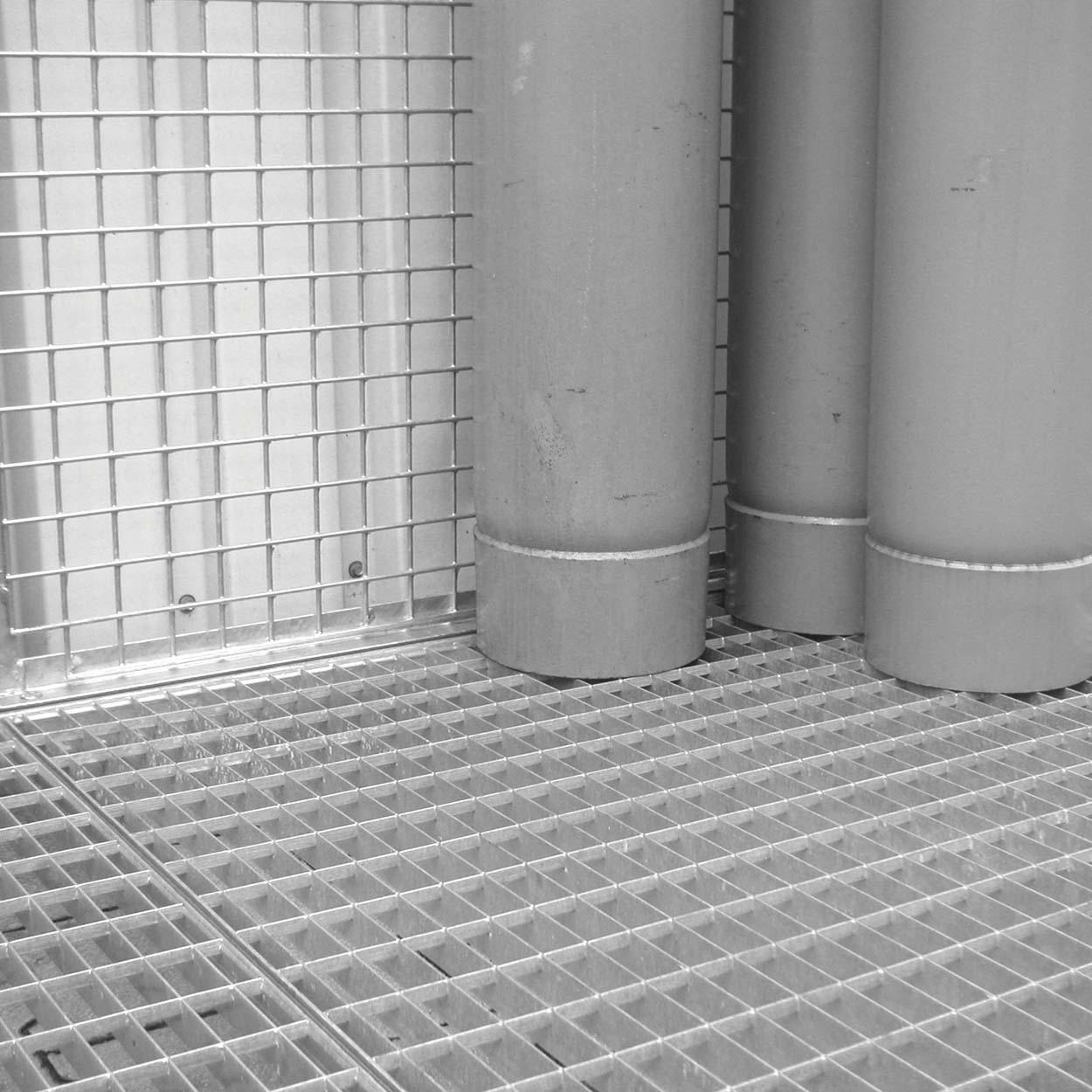 Płyty kratowe do klatek bez podłogi, do przechowywania butli gazowych