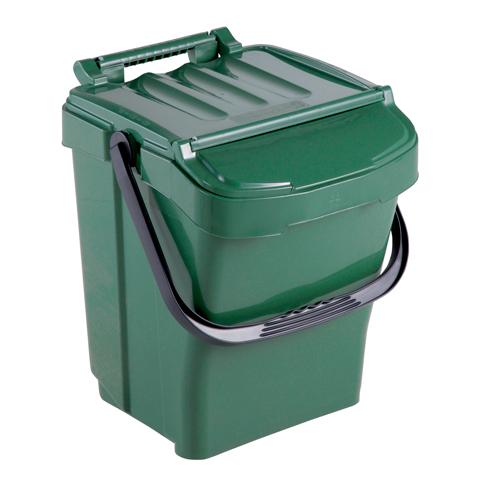 Kosz na odpady z pokrywą 40L zielony